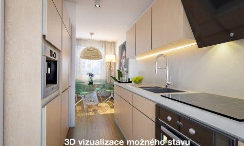 Kuchyň - vizualizace