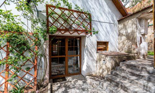 Francouzské dveře z kuchyně